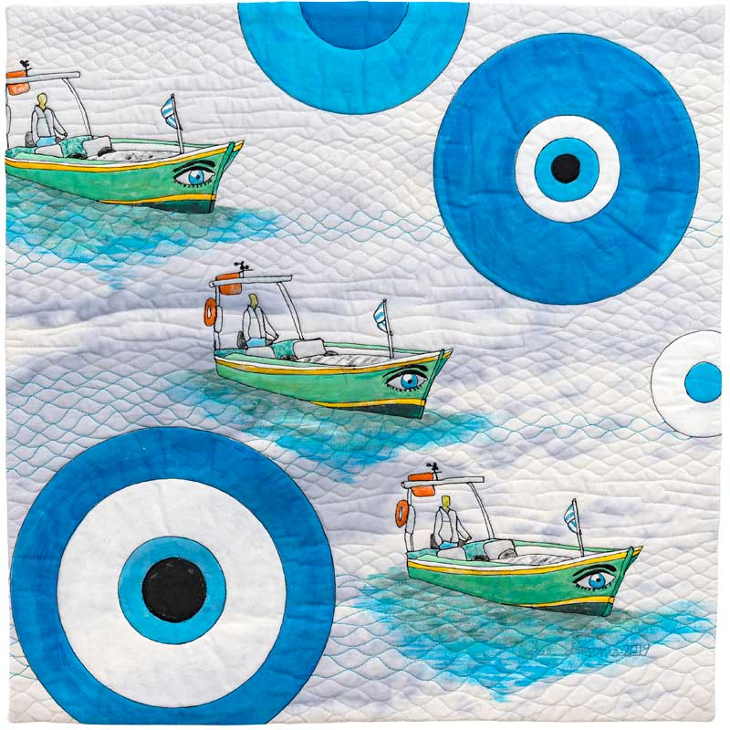 Even the Boats Have Eyes in Greece: Sue Dennis